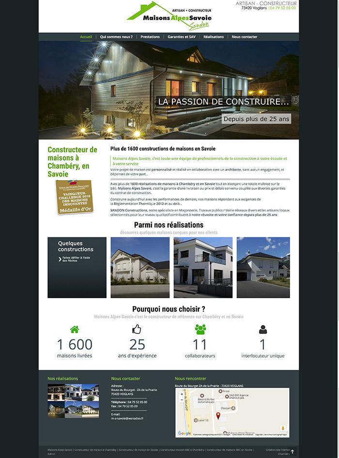 Site internet Maisons Alpes Savoie